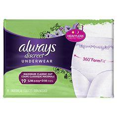 Always Discreet Incontinence Underwear for Women, Bladder...