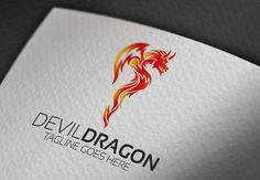 Devil Dragon Logo by Esse Logo Studio on Creative Market