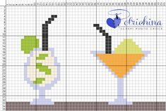 aperitivo - festa - party - drink - schema punto croce  - cross Stitch - Kreuzstich - Punto de Cruz - point de croix