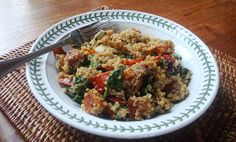 Dad insightfully commented the other day that my cooking is either incredibly decadent, or very healthy - switching from one extreme to the . Quinoa Salad, Roasted Vegetables, Fried Rice, Grains, Lunch, Cooking, Healthy, Ethnic Recipes, Food