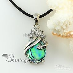 Oval Teardrop Rainbow Abalone Sea Shell Rhinestone Mother Pendant Necklaces | Buy Wholesale On Line Direct from China