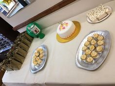Lovely cup cakes by Ali @ NiceBuns in Bridgwater and the fruit cake by our very own Caroline #50thBirthday
