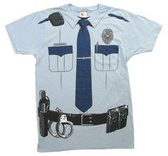 Impact Originals Police Cop Uniform Costume Tee $11.68 (save $38.31)
