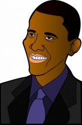 Barack Obama in vector