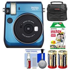 Fujifilm Instax Mini 70 Instant Film Camera (Blue) with 20 Prints   Case   Batteries   Kit *** Continue to the product at the image link.