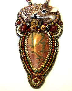 Amy Johnson Designs, cabochon by Laura Mears.