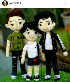 Super Design Ideas for Crochet Amigurumi Dolls Crochet For Boys, Crochet Baby Hats, Cute Crochet, Amigurumi Doll, Amigurumi Patterns, Doll Patterns, Knitted Dolls, Crochet Dolls, Crochet Doll Pattern