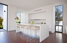 Pardee Properties - Gorgeous, White Kitchen With Custom Italian Cabinetry in Santa Monica Architectural