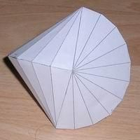 Paper model tetracontahedron