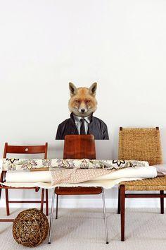Blik Wall Decals - Zoo Portraits: Fox