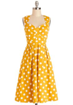 And Many More Dress, #ModCloth>>> this color and polka dots makes me think of one of my favorite dresses in Animal Crossing: New Leaf! Except the style is different