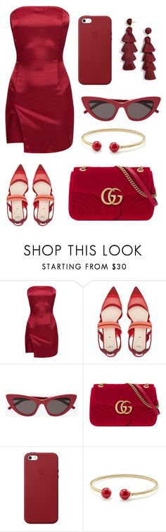 """""""Red cherry"""" by maja-kristiansson on Polyvore featuring Fendi, Gucci, Apple, David Yurman and BaubleBar"""