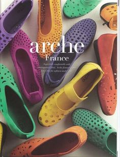 Arche Shoes (made in France) are apparently a great walking shoe - and, hey, they actually look good; who knew?! I want to find the yellow Mary Janes in this picture...