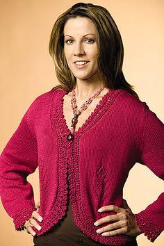 Free Knitting Pattern - Women's Cardigans: Cutaway Cardigan
