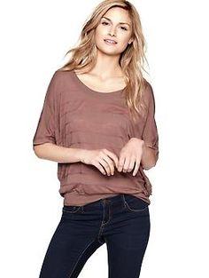 Lightweight flutter-sleeve sweater   #Gap $49.95
