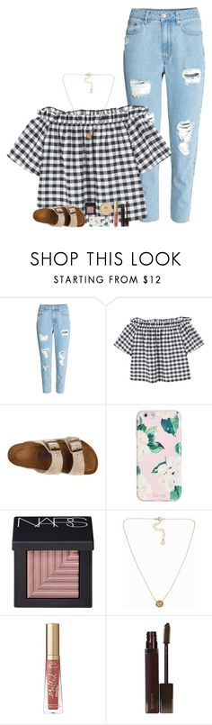 """❥i want much more than this provincial life"" by beingrach ❤ liked on Polyvore featuring MANGO, Birkenstock, ban.do, NARS Cosmetics, Pieces, Too Faced Cosmetics, Laura Mercier and Pixi"