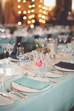Tiffany blue makes for an inviting ambiance