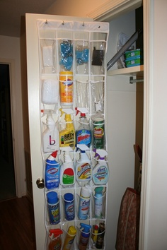 Cleaning Supplies Organized
