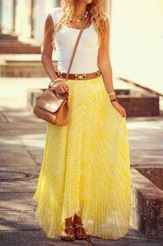Ladies long skirt fashion inspiration ever