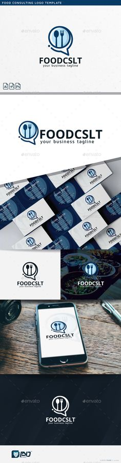 Food Consulting Logo Template PSD, Vector EPS, AI Illustrator. Download here: http://graphicriver.net/item/food-consulting/15175348?ref=ksioks