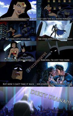 You have to sing it lol << Marvel Funny, Marvel Dc Comics, Funny Comics, Funny Batman, Power Rangers Comic, Cute Paintings, Cartoon Tv Shows, Batman Family, Comic Movies