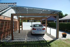 4 Design Roof Panels For Carport Photo by Rodale InstituteSolar console prices accept alone in contempo years, authoritative the technology added attainable Carport Modern, Double Carport, Garage Double, Carport Garage, Pergola Carport, Steel Pergola, Gazebo, Solar Car, Solar Roof
