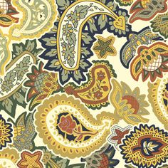 Bayeux Paisley Allover Scatter custom fabric by eclectic_house for sale on Spoonflower Paisley Coloring Pages, Custom Fabric, Spoonflower, Craft Projects, Fabrics, Colorful, Costumes, Quilts, Printed