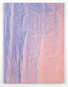 Tauba Auerbach  Untitled (Fold)  2010  Acrylic on canvas / Wooden stretcher  60 x 45 inches  152.4 x 114.3 cm