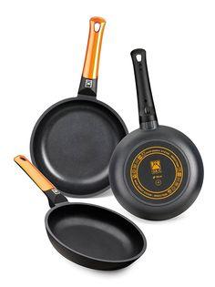 BRA Efficient Orange  Set de 3 sartenes por tan solo 50,99 €