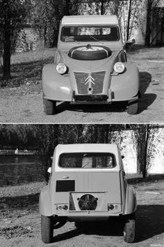 Citroën 2CV 4x4 Sahara (production 3/1958-7/1966 4x4, 2cv Sahara, Psa Peugeot, Automobile, 2cv6, Car Humor, Art Cars, Cars And Motorcycles, Vintage Cars