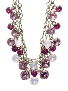 Glittering Double-Strand Crystal Bib Necklace in Sweet Heart by Sorrelli - $245.00 (http://www.sorrelli.com/products/NCF23ASSWH)