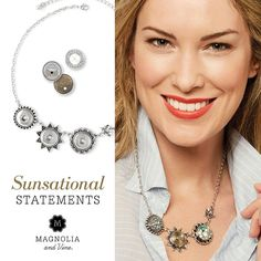 Step into Summer ..with Magnolia & Vine jewelry & the interchangeable snaps. www.MyMagnoliaAndVine.com/1344