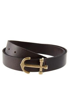 Anchor buckle belt.  Got this from Agaci in marine blue and the opposite side is in black.