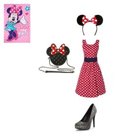 """""""minnie mouse costume"""" by sbrewed ❤ liked on Polyvore featuring Disney"""