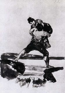 Vita Nova: GOYA Y LUCIENTES, Francisco dePeasant Carrying a W...