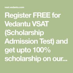 Register FREE for Vedantu VSAT (Scholarship Admission Test) and get upto scholarship on our courses for JEE, NEET, CBSE & ICSE for Class 6 to Visit our website to know more about Vedantu Scholarship Admission Test. Kindergarten Syllabus, Free Gift Card Generator, Free Gift Cards, Free Money, Texts, How To Remove, Website, Mobile Game, Beautiful Women