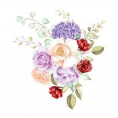 Watercolor rose bouquet backfround Premi...   Free Vector #Freepik #freevector #background #flower #wedding #watercolor
