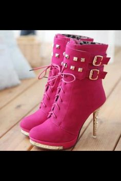hot pink boots