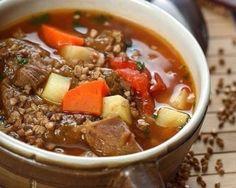 Невероятно вкусный и сытный гречневый суп с говядиной. Точно влюбишься в это блюдо