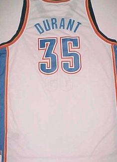 d43c7dbba Kevin Durant 35 Oklahoma City Thunder NBA adidas White Blue Orange Jersey  XL  adidas