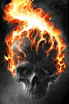 ghost rider 2 by jarART on DeviantArt Ghost Rider Wallpaper, Skull Wallpaper, Hd Wallpaper, Ghost Rider Pictures, Skull Pictures, Dark Fantasy Art, Dark Art, Ghost Rider Tattoo, Ghost Raider