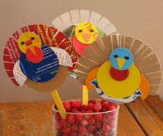 10 Thanksgiving Kids Craft & Decorations!! recycled cereal boxes