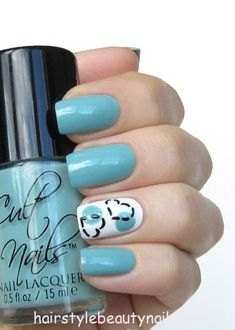 beauty nails art design hearts image picture (6) http://www.hairstylebeautynails.com/nails-designs/light-blue-nails-hearts-design/