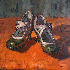 Cathleen Rehfeld painting of shoes Sabates Bright Paintings, Oil Paintings, Ap Drawing, Still Life Artists, Ap Studio Art, Shoes Too Big, Artist Sketchbook, Painting Still Life, Ap Art