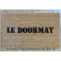 GENERIC French LE DOORMAT 1980's Repo man by DamnGoodDoormats, $45.00