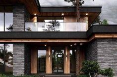 modern-exteriors-2 Modern Exterior House Designs, Dream House Exterior, Modern House Design, Exterior Design, Plans Architecture, Beautiful House Plans, My House Plans, Model House, House Front Design