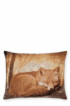 Fox Tapestry Cushion from the Next UK online shop http://www.next.co.uk/g2286s12#854855x52
