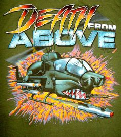 "80'S CULT PULP — powerblast:   ""Death from Above"" shirt design"