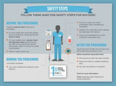 Safety Steps for Healthcare Providers. Make every injection safe. Check out CDC's One  Only Campaign interactive #infographic.   Pin this infographic for #ptsafety today!