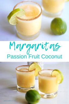 Coconut Milk Cocktail, Coconut Milk Drink, Passion Fruit Margarita, Coconut Margarita, Fruit Drinks, Dessert Drinks, Beverages, Cocunut Milk, Margarita Ingredients
